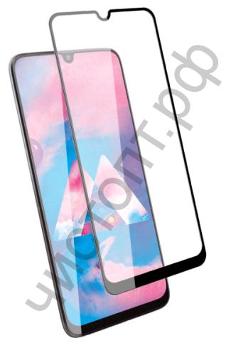 Защитное стекло Samsung M21 с рамкой 9H Full Glue без упаковки