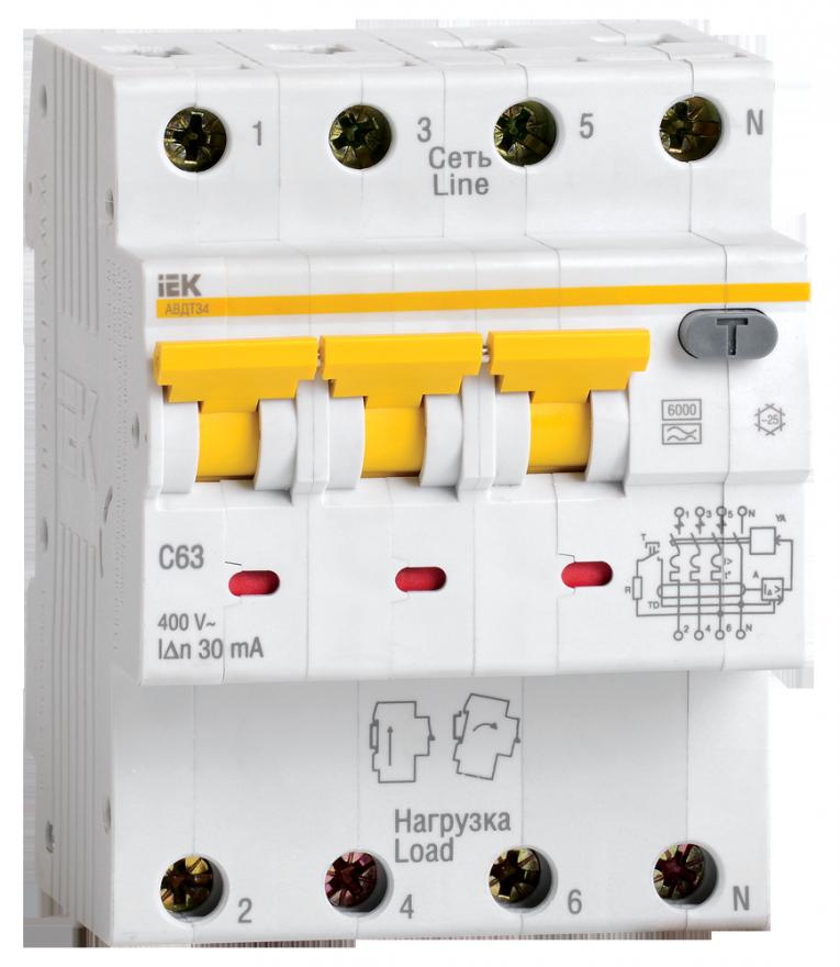 Автоматический выключатель дифференциального тока IEK MAD22-6-025-C-30