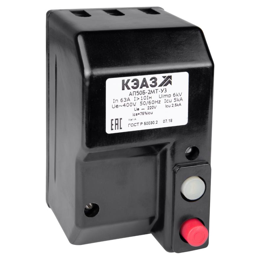 Автоматический выключатель КЭАЗ АП-50Б-2МТ АП50Б-2МТ-10A КЭАЗ