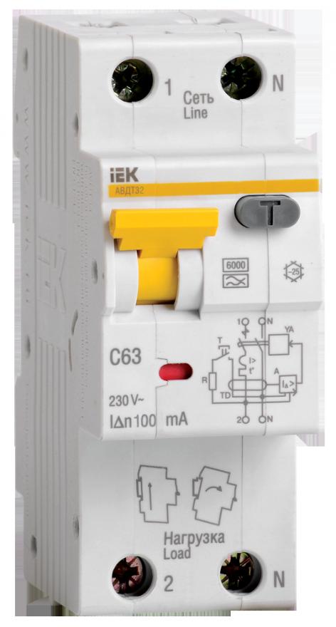 Автоматический выключатель дифференциального тока IEK MAD22-5-025-C-30