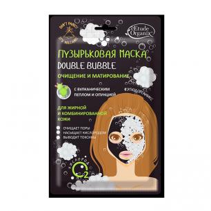 """""""Etude Organix"""" Volcanic  Пузырьковая маска double bubble с вулканическим пеплом  25 г"""