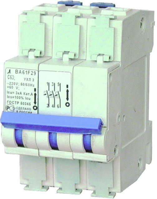 Автоматический выключатель ДЗНВА ВА61F29 ВА61F29 3п 31,5А