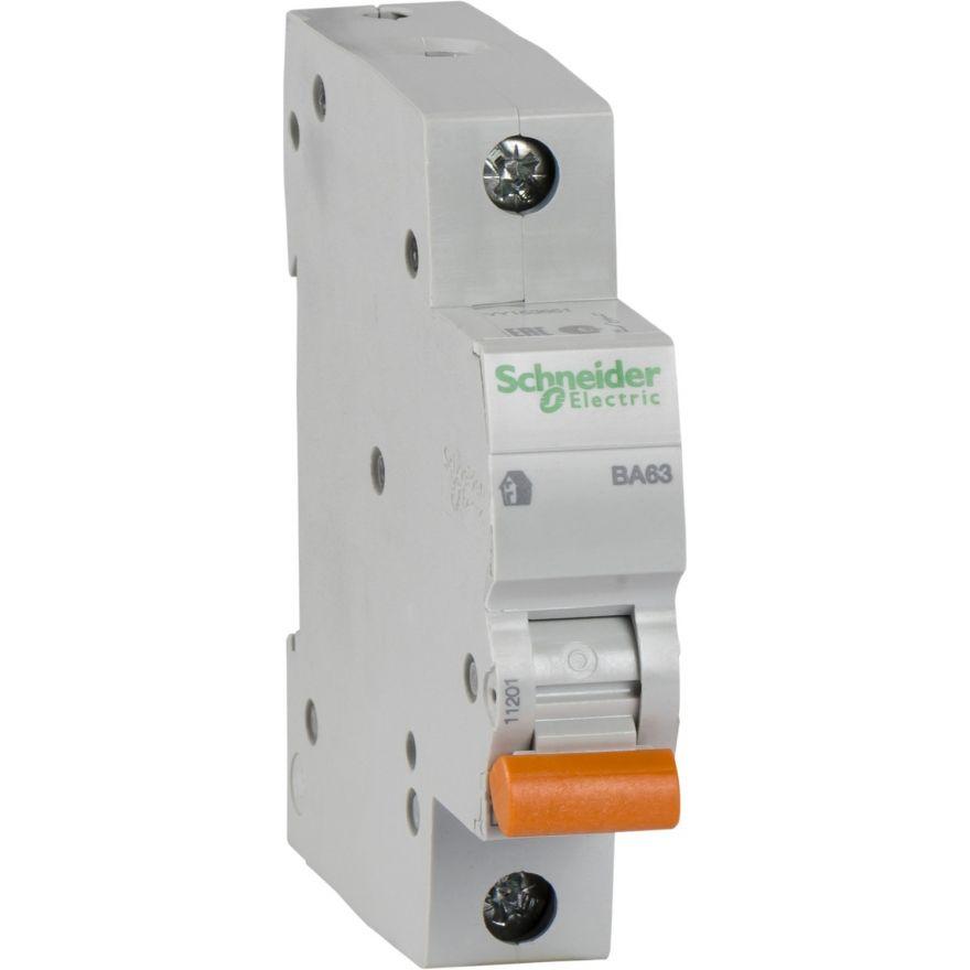 Schneider Domovoy автоматический выкл. ВА63 1P 50А 4,5кА х-ка C 11208