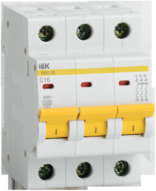 Автоматический выключатель IEK MVA20-3-010-B