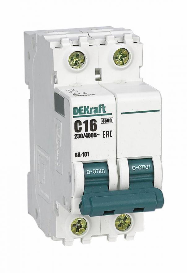 DEKraft автоматический выкл. ВА-101 3P  25А х-ка С 4,5кА