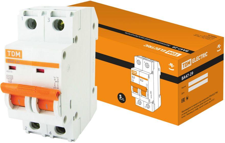 Автоматический выключатель TDM ВА47-29 SQ0206-0032