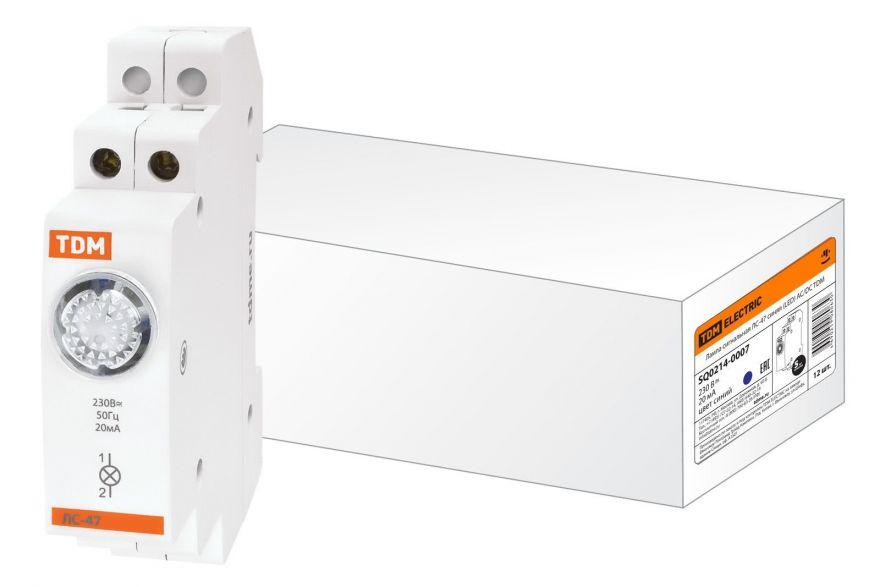 Лампа сигнальная на DIN-рейку TDM ЛС-47 SQ0214-0007