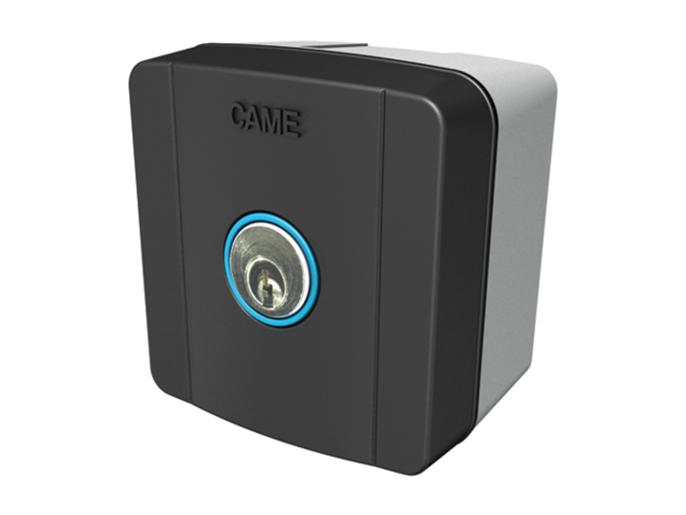 SELC1FDG Ключ-выключатель накладной с синей подсветкой (806SL-0010)