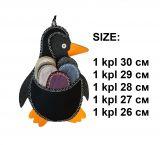 Тапочки подарочные 5 размеров PINGUINE black