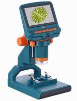 Микроскоп цифровой Levenhuk LabZZ DM200 LCD  - вид спереди