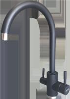 Смеситель для кухни с выходом под фильтр Ewigstein 3423516 Антрацит