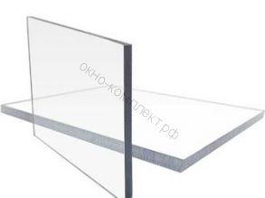 "Монолитный поликарбонат ""Кристалл"" 3мм (прозрачный) Размер: 2,05*3,05м"