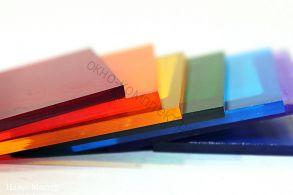 """Монолитный поликарбонат """"Карбогласс"""" 3мм (Диффузор,опал,коричневый,бордовый,красный,желтый,зеленый ,серебристый, синий,бирюза) Размер: 2,05*3,05м"""