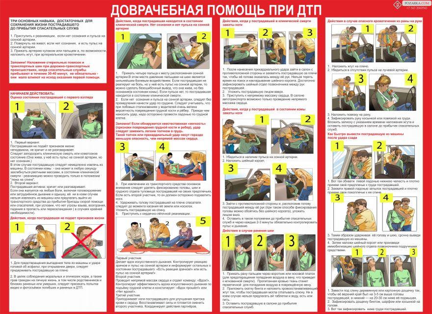 Информационный стенд Доврачебная помощь при ДТП_1