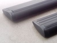 Багажник на крышу Suzuki Vitara 2015-..., Lux, черные крыловидные дуги