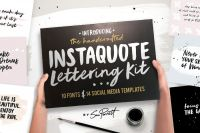 [CreativeMarket] Instaquote Lettering Kit