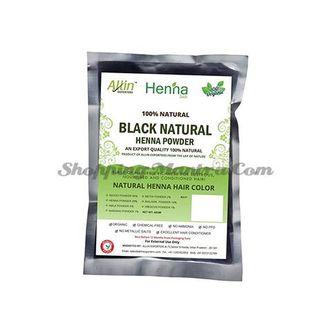 Краска на основе хны (черный) Аллин Экспортерс | Allin Exporters Black Henna Hair Color
