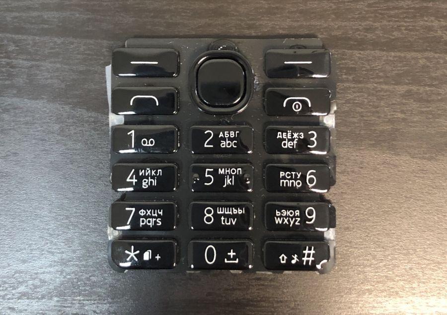 Клавиатура Nokia 206 (black) Аналог