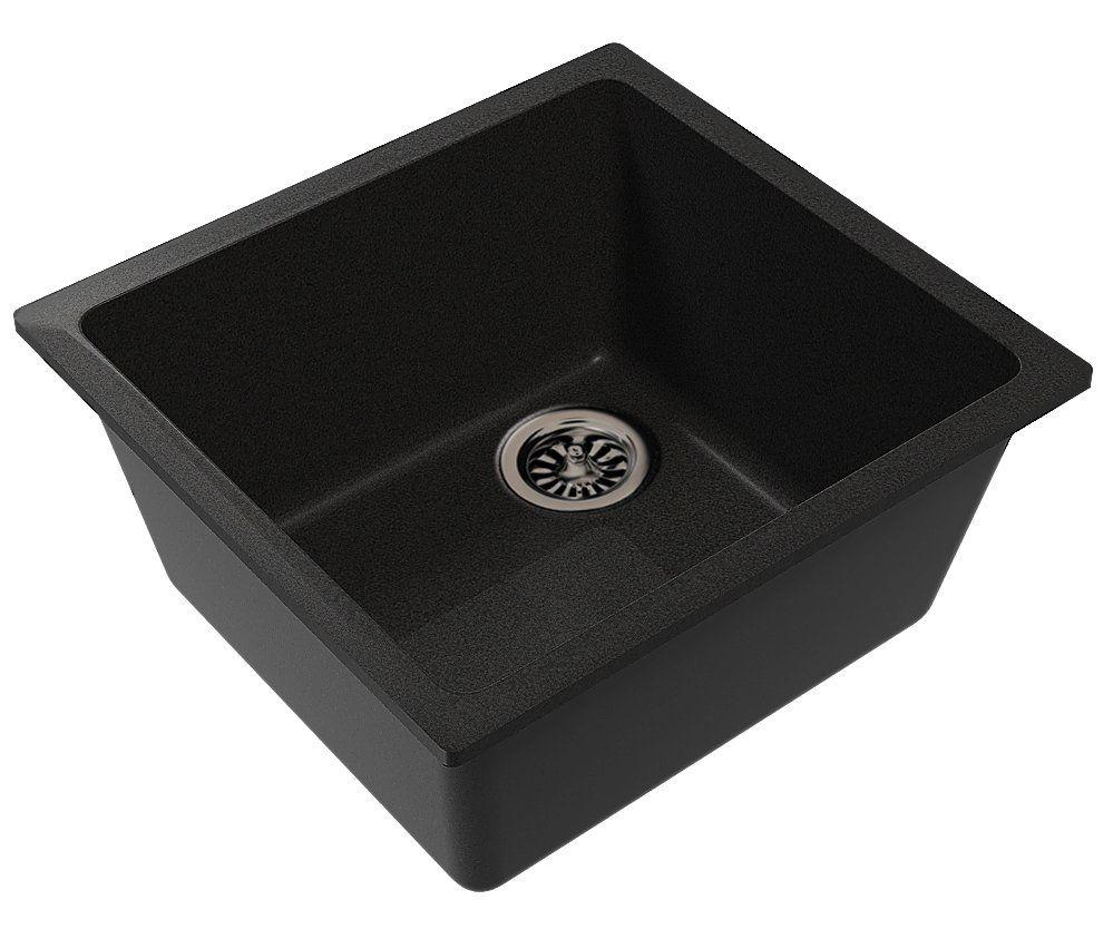 Кварцевая подстольная мойка Ewigstein EW5038 Черный