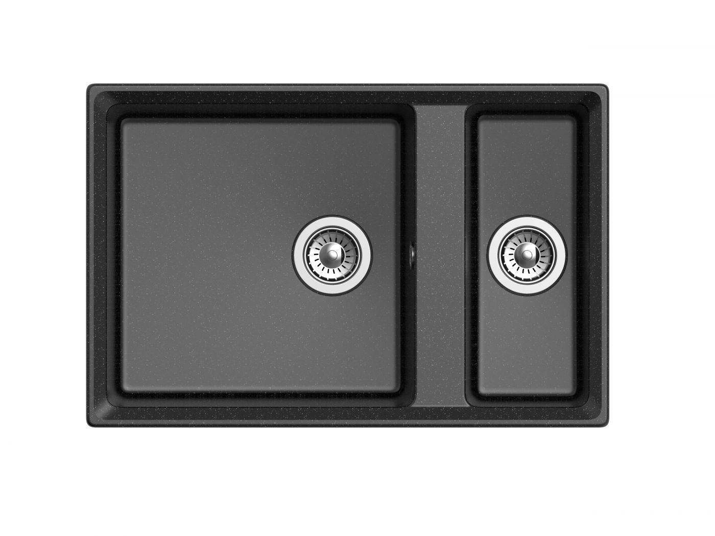 Мраморная мойка для кухни GranFest Level GF-LV760K Черный