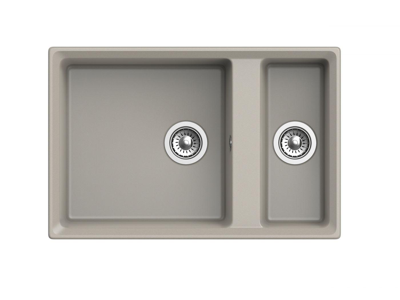 Мраморная мойка для кухни GranFest Level GF-LV760K Топаз