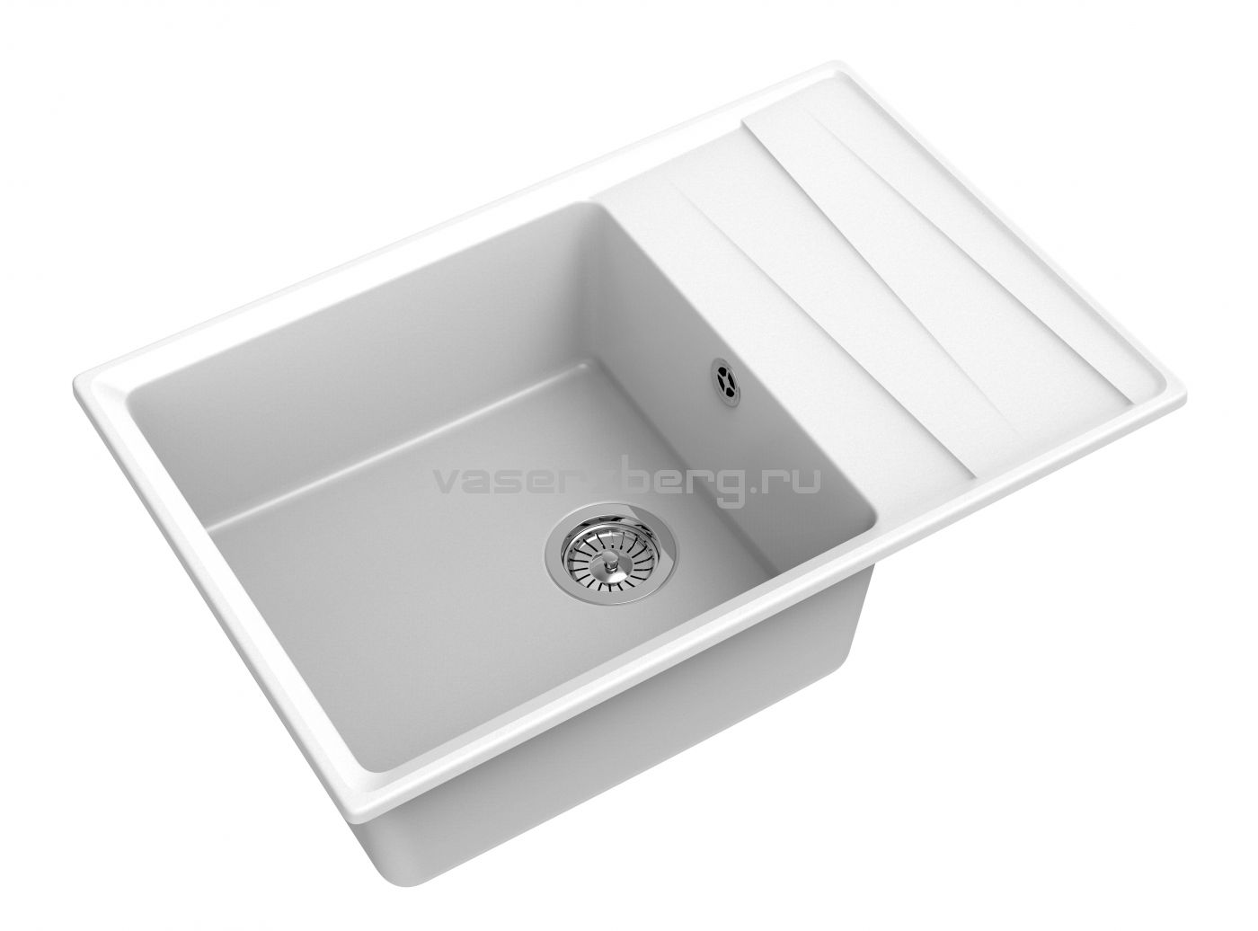 Мраморная мойка для кухни GranFest Level GF-LV760L Иней
