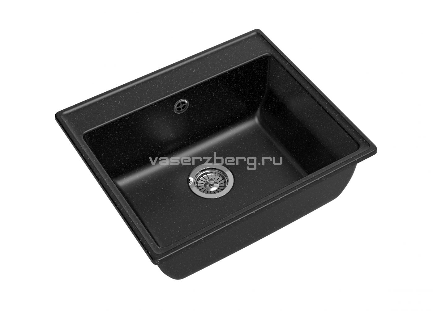 Мраморная мойка для кухни GranFest Vertex GF-V580 Черный