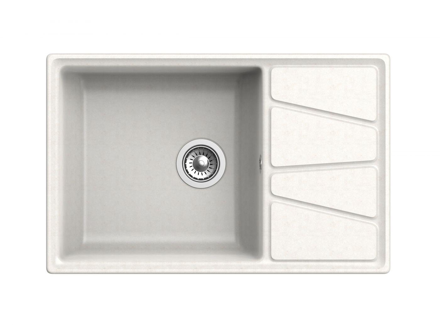 Мраморная мойка для кухни GranFest Vertex GF-V780L Белый