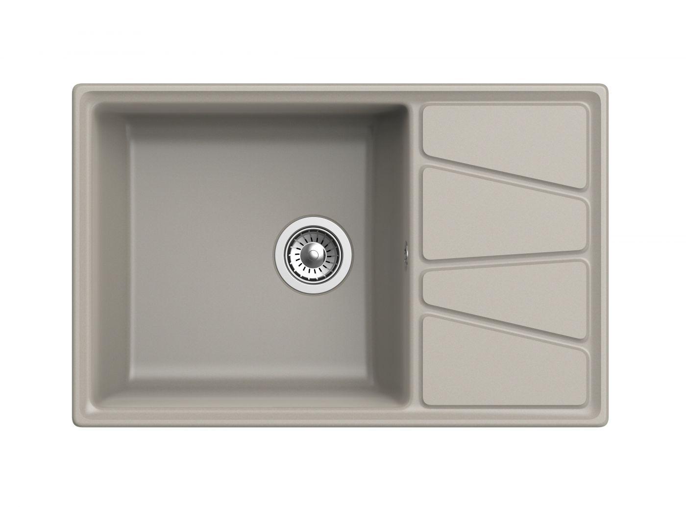 Мраморная мойка для кухни GranFest Vertex GF-V780L Топаз