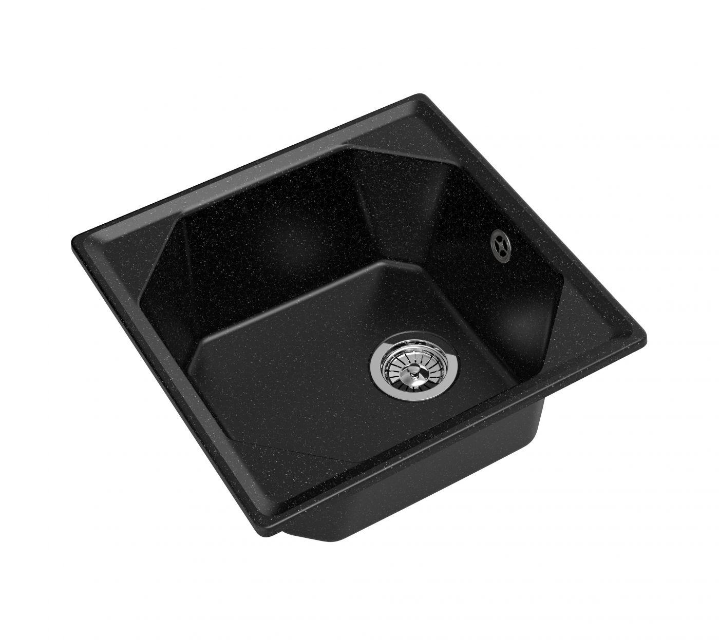 Мраморная мойка для кухни GranFest Unique GF-U500 Черный