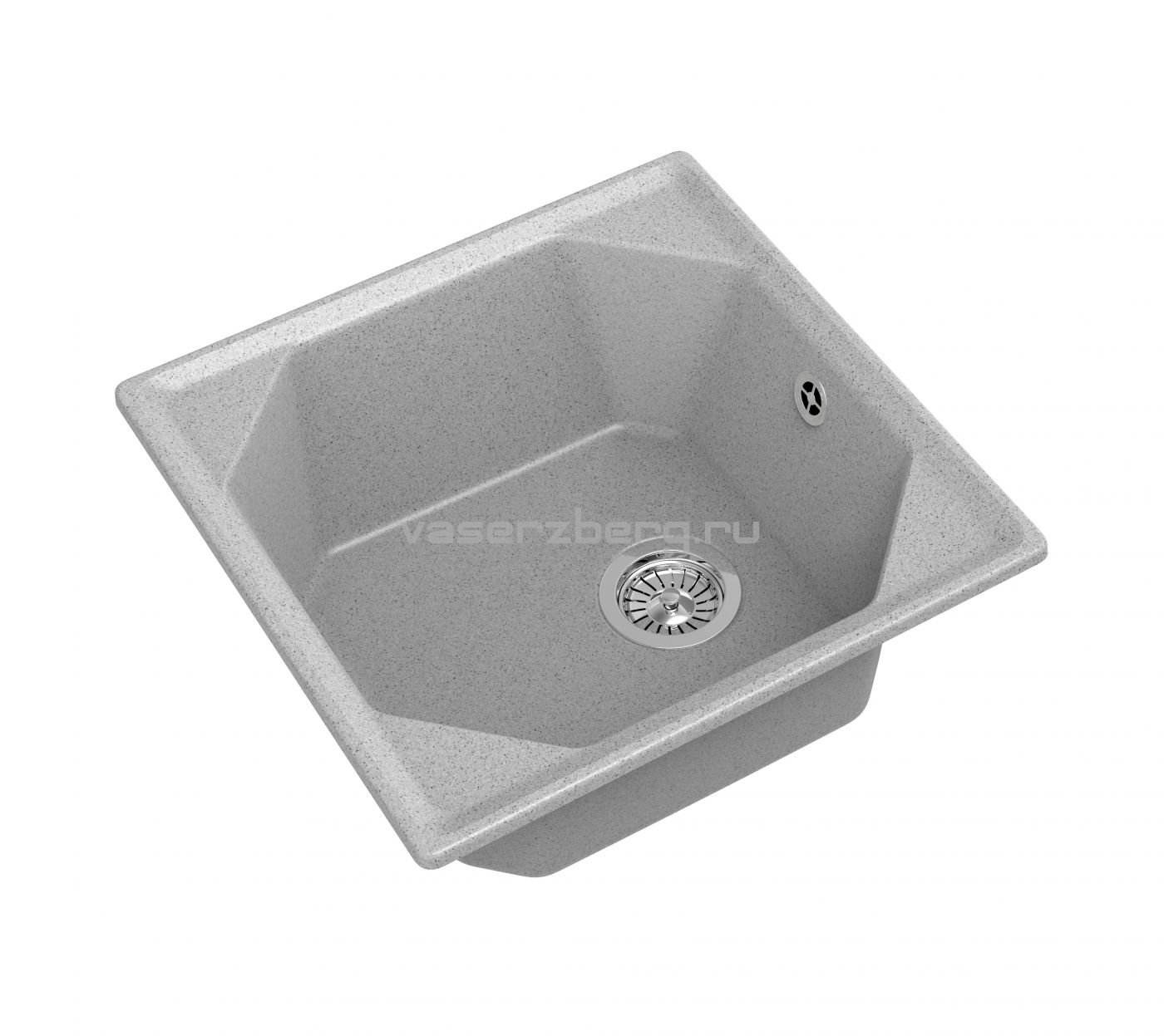 Мраморная мойка для кухни GranFest Unique GF-U500 Серый
