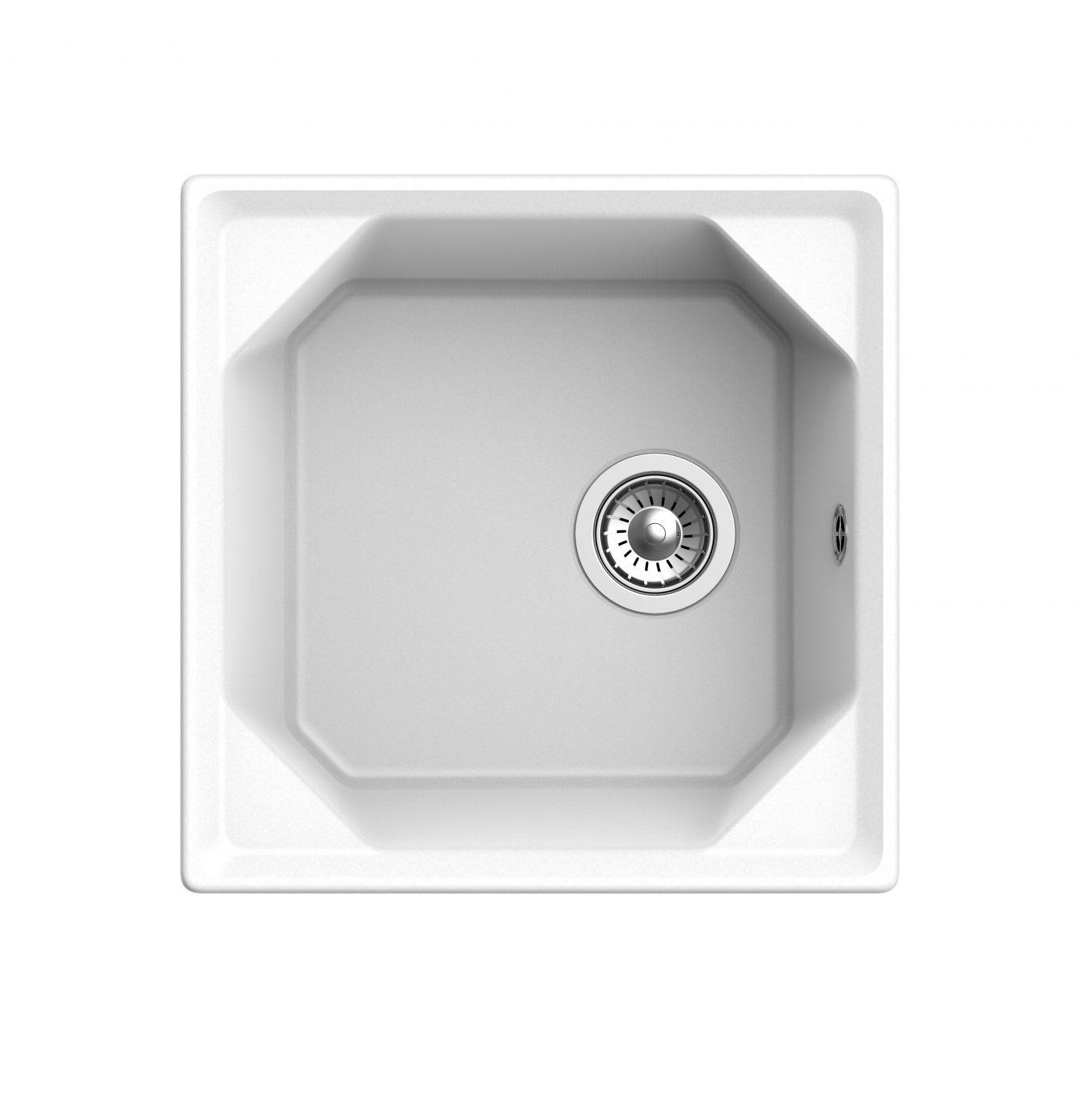 Мраморная мойка для кухни GranFest Unique GF-U500 Иней