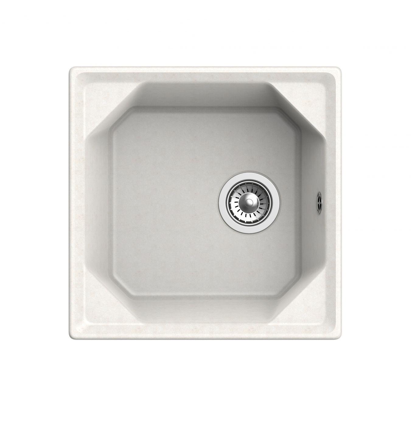 Мраморная мойка для кухни GranFest Unique GF-U500 Белый