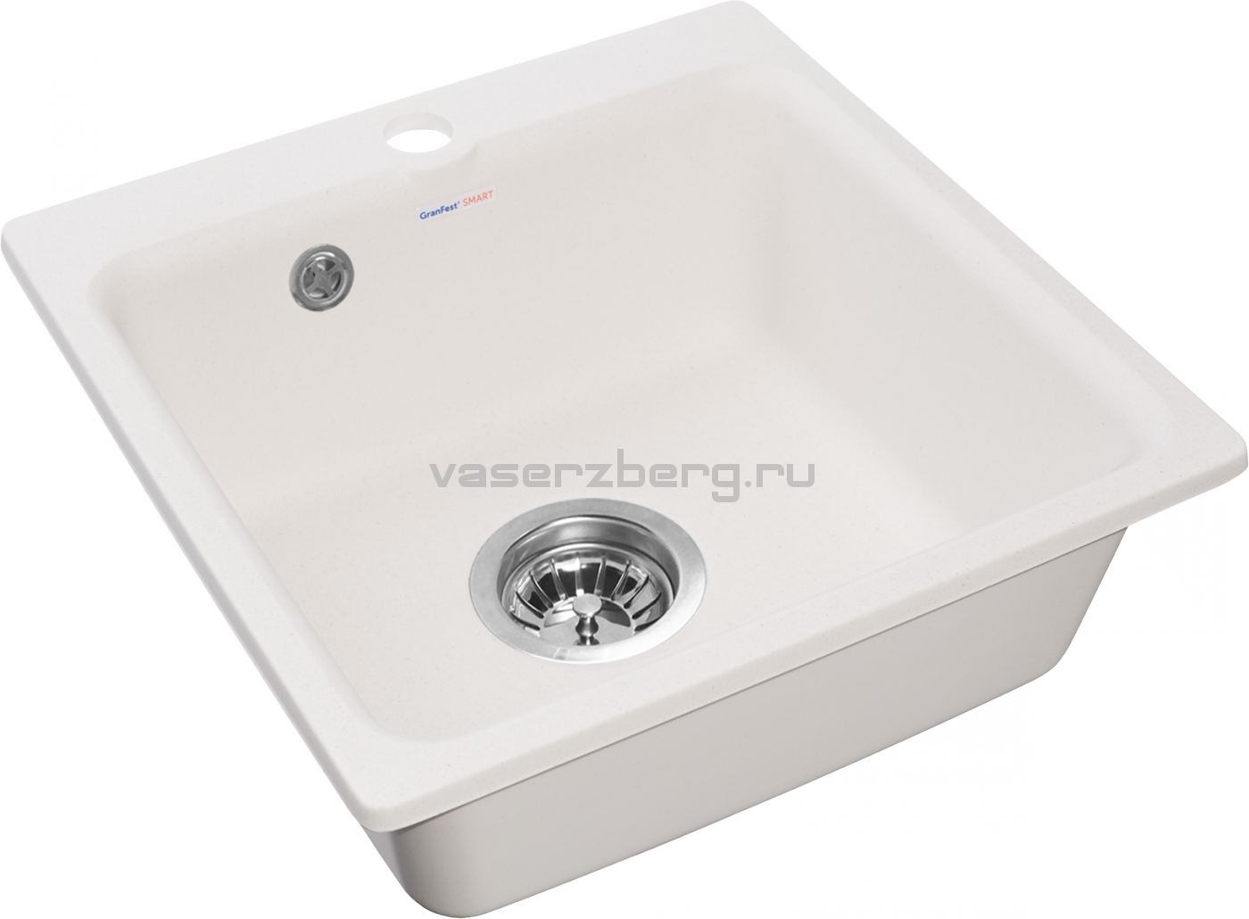Мраморная мойка для кухни GranFest Smart SM430 Белый