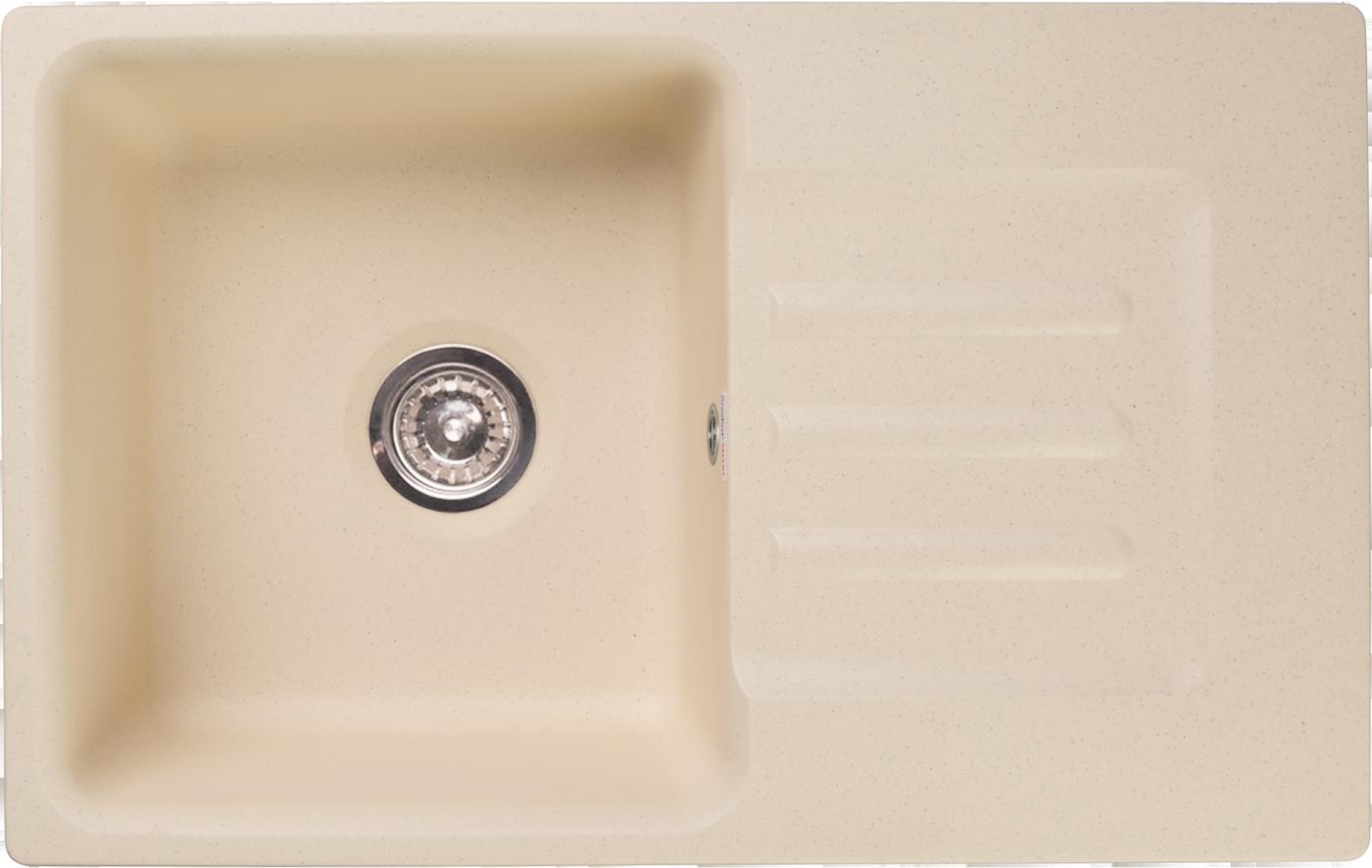 Мраморная мойка для кухни GranFest Smart SM680L Бежевый