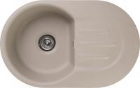Мраморная мойка для кухни GranFest Smart SM685L Песочный