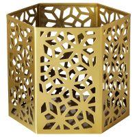 LJUVARE ЛЬЮВАРЕ, Подсвечник для греющей свечи, золотой, 10 см - 404.921.28