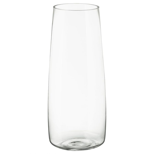 BERAKNA БЕРЭКНА, Ваза, прозрачное стекло, 45 см - 303.782.46
