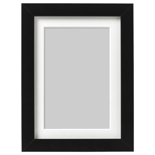 RIBBA РИББА, Рама, черный, 13x18 см - 603.815.44