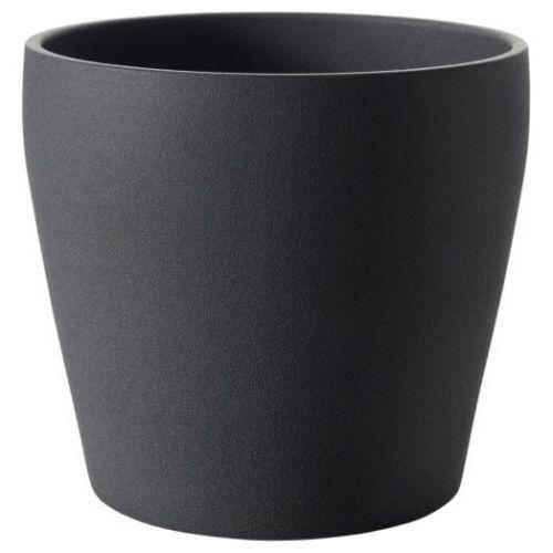 PERSILLADE ПЕРСИЛЛАДЕ, Кашпо, темно-серый, 19 см - 804.509.99