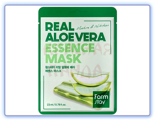 Тканевая маска с экстрактом алоэ вера Farmstay Real Aloe Vera Essence Mask