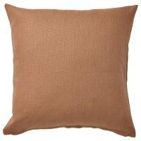 VIGDIS ВИГДИС, Чехол на подушку, светло-коричневый, 50x50 см - 704.866.92