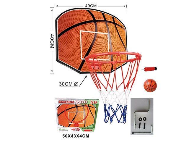 Баскетбольный щит с металлическим кольцом, мячом и насосом (TCX50-3)
