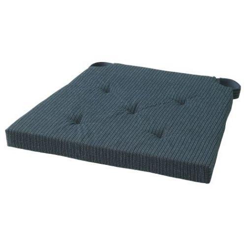 JUSTINA ЮСТИНА, Подушка на стул, темно-синий/в полоску, 42/35x40x4 см - 003.958.17