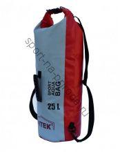 Герморюкзак Митек 25л (D 24см Н-55см) красно-серый