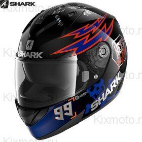 Шлем Shark Ridill 1.2 Catalan Bad Boy, Черно-красно-синий