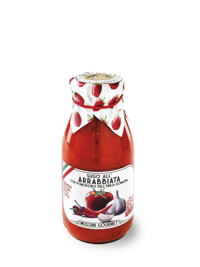 Соус Арраббьята 250 мл, Sugo all'Arrabbiata, Mussini, 250 ml