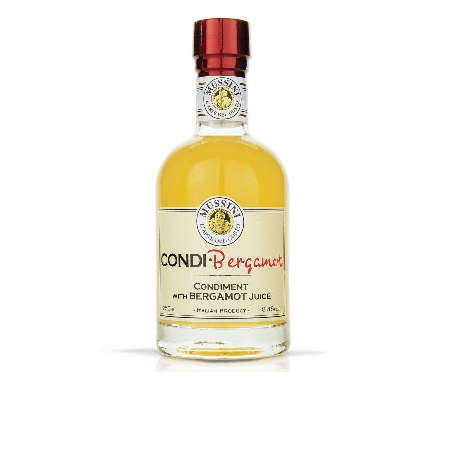 Заправка уксусная с соком бергамота  250 мл, Condimento Bergamotto , Mussini, 250 ml