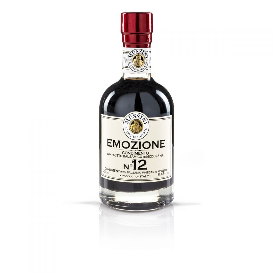 Заправка на основе бальзамического уксуса Эмоция №12  250 мл, Condimento balsamico  Emozione №12 , Mussini, 250 ml