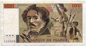 Франция 100 франков 1991